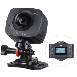 1080p HD VR Sports Action Camera Dual Lenses 360 Degree Video and Photo
